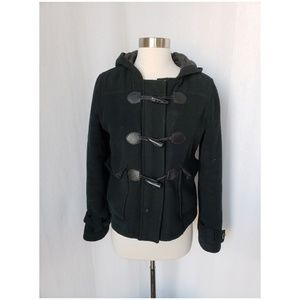 { xhilaration } wool hooded toggle jacket
